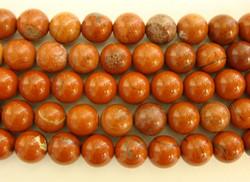 Jaspis punainen pyöreä 8 mm (30 kpl/pss)