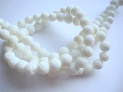 Koralli valkoinen pyöreä 8 mm (30 kpl/pss)
