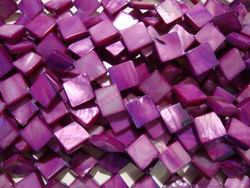 Simpukkahelmi violetti/ametisti 10 x 10 mm (n.29/nauha)