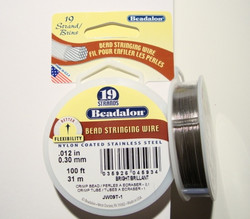 Beadalon koruvaijeri 19-säikeinen kirkas teräs paksuus 0,30 mm (kela 31 m)