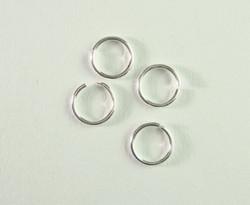 Välirengas 7 x 1 mm hopeoitu avattava (100 kpl/pss)