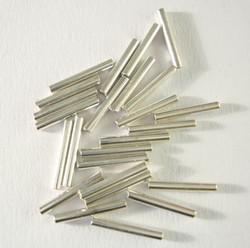 Metallihelmi putki sileä hopeanvärinen 10 mm (40 kpl/pss)