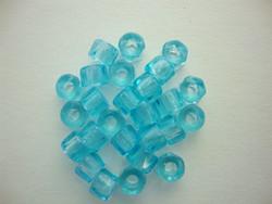 Tsekkiläinen fasettihiottu rondelli kirkas vedensininen 6x3 mm (n. 50 kpl/pss)