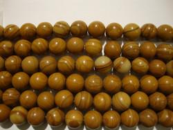 Jaspis (picture jasper) ruskea pyöreä 8 mm (30kpl/pss)
