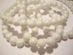 Lasihelmi valkoinen pyöreä 6 mm (50 kpl/pss)