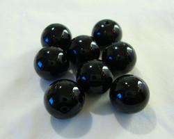 Tsekkiläinen lasihelmi musta pyöreä 12 mm (10/pss)