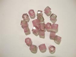 Tsekkiläinen fasettihiottu rondelli vaaleanpunainen 6 x 3 mm (n. 50 kpl/pss)