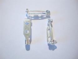 Rintakorupohja hopeoitu 2 reikää 20 mm x 5 mm (10 kpl/pss)