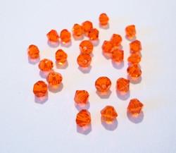 Swarovski kristallihelmi oranssi bicone 4 mm (5/pss)