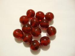 Tsekkiläinen lasihelmi granaatinpunainen pyöreä 8 mm (20/pss)