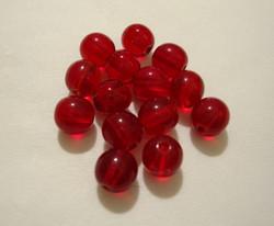 Tsekkiläinen lasihelmi tumman punainen 6 mm (50/pss)