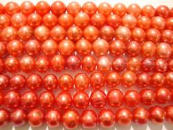 Makeanvedenhelmi mansikanpunainen pyöreähkö 6-7 mm (n. 40 cm nauha)