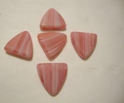 Lasihelmi vaaleanpunainen/pinkki kolmio 13 mm (10/pss)