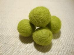 Huovutettu helmi limen vihreä n. 23 mm (5 kpl/pss)