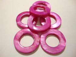 Simpukkahelmi pinkki / fuksian punainen donitsi 20mm (10/pss)