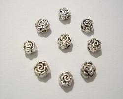 Metallihelmi Kukka antiikkipatinan värinen 4,7 mm (10 kpl/pss)
