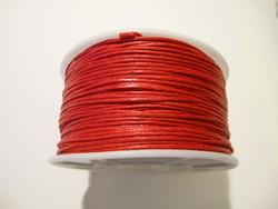 Puuvillanauha vahattu kirkkaanpunainen 1 mm (myyntierä 1 m)