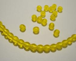 Tsekkiläinen lasihelmi keltainen pyöreä 4 mm (50/pss)