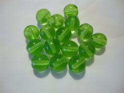 Tsekkiläinen lasihelmi limen vihreä kirkas  pyöreä 8 mm (20/pss)