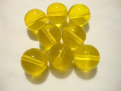 Tsekkiläinen lasihelmi keltainen pyöreä 12 mm (10/pss)