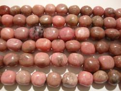 Rodoniitti ruusun punainen nuggetti 7 - 9 mm (30 kpl/pss)