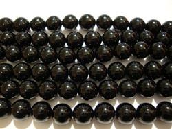 Akaatti musta pyöreä 8 mm (20 kpl/pss)