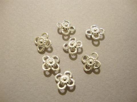 Beadalon korulinkki kukka hopeoitu 9 mm (10  kpl/pakkaus)