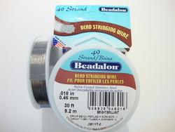 Beadalon koruvaijeri 49-säikeinen kirkas teräs 0,46 mm (kela 9,2 m)