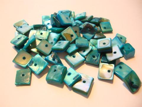 Simpukkahelmi turkoosi (azurin sininen) n. 10 mm (25 g/pss)