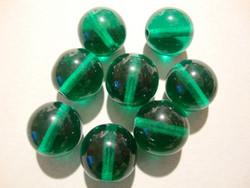 Tsekkiläinen lasihelmi Teal vihreä pyöreä 12 mm (10/pss)