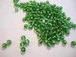 Siemenhelmi vihreä hopeareuna 8/0 3,5 mm (20 g = n. 1000 kpl)