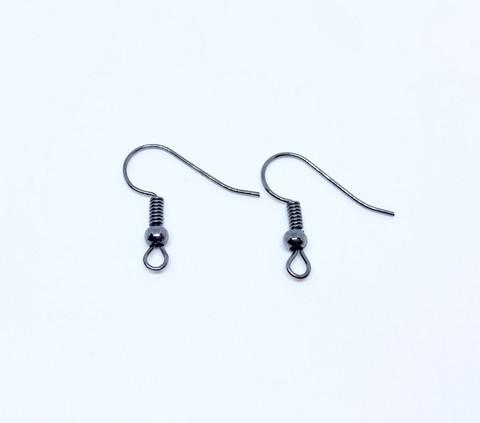 Korvakorukoukku (fish hook) musta 21 x 16 mm (20 kpl/pss)