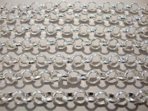 Papuketju hopean värinen + / - 6 mm (n. 1 m)