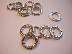 Korulinkki / linkkirengas hopeoitu pyöreä 17 mm (10 kpl/pss)