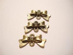 Korulinkki / riipus Rusetti pronssinvärinen 10 x 20 mm (4 kpl/pss)