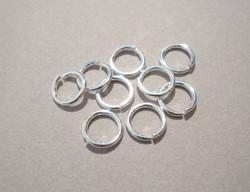 Välirengas 7 x 1 mm 925 sterling hopea avattava (10 kpl/pss)