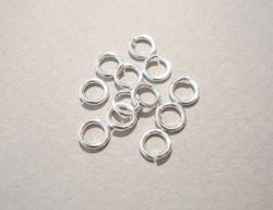 Välirengas 5 x 1 mm 925 sterling hopea avattava (10 kpl/pss)