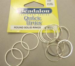 Beadalon hopeoitu linkkirengas pyöreä 20 mm (22 kpl/pss)