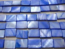 Simpukkahelmi sininen 10 x 15 mm (n.26/nauha)
