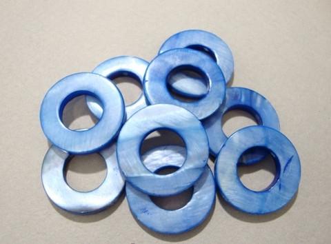 Simpukkahelmi sininen donitsi 20 mm (10/pss)