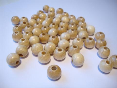 Rayher Puuhelmi puunvärinen natural pyöreä 16 mm (15 kpl/pss)