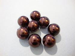 Helmiäislasihelmi suklaan ruskea 10 mm (21/nauha)