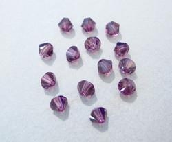 Swarovski kristallihelmi ametisti bicone 4 mm (5/pss)