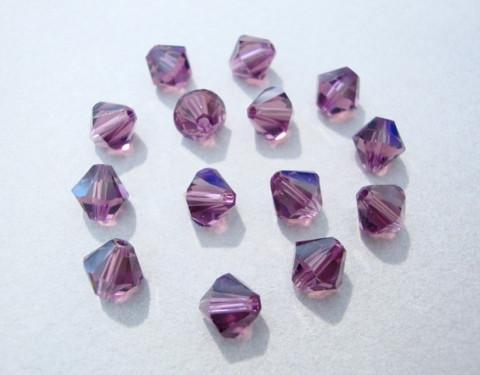 Swarovski kristallihelmi ametisti bicone 6 mm (4/pss)