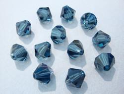 Swarovski kristallihelmi Montanan sininen bicone 8 mm (4/pss)