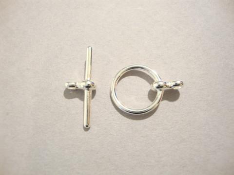 Salpalukko siro hopeoitu rengas 12 mm / salpa 19 mm (3/pss)