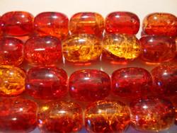 Särölasihelmi oranssi ovaali 12 x 16 mm (5/pss)