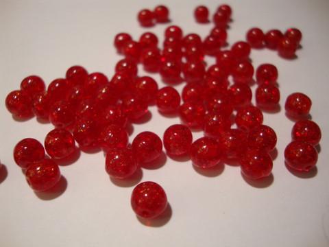Särölasihelmi punainen pyöreä 6 mm (30 kpl/pss)