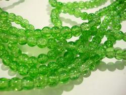 Särölasihelmi limen vihreä pyöreä 6 mm (30 kpl/pss)
