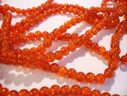 Särölasihelmi tumma oranssi pyöreä 6 mm (30 kpl/pss)